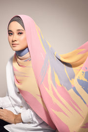 ( Full Pleats ) Euphoria Shawls Mixed Pink - ( Happy )