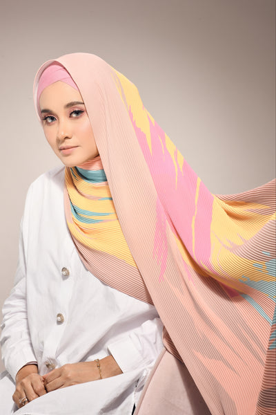 (  Full Pleats ) Euphoria Shawls Mixed Colours - ( Bright Days  )