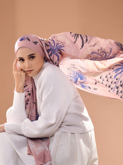 Tropical Lux Mixed Satin Silk ( Shawl ) - Tioman