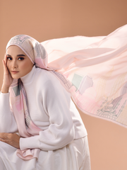 KL ICONIC Lux Mixed Satin Silk ( Shawl  ) - Pastel
