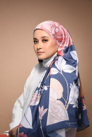 (Square) FOREVER Mix Satin Silk Scarf in All about You