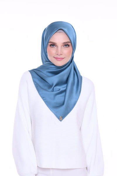 ( Shawl ) Just Matte Satin Basic - Cloud In