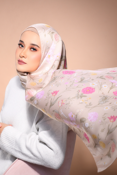 (Shawl ) FOREVER Mix Satin Silk Scarf in 50FirstDates