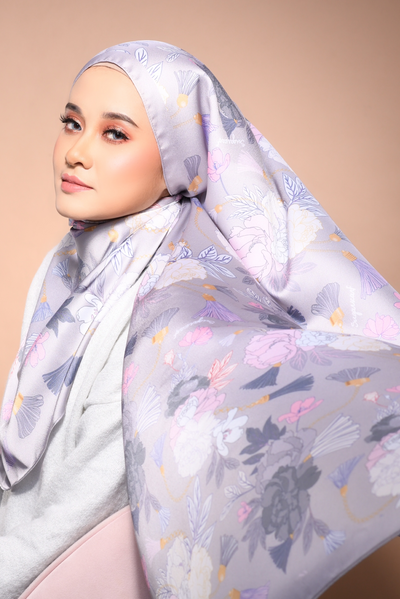 (Shawl ) FOREVER Mix Satin Silk Scarf in Say Anything