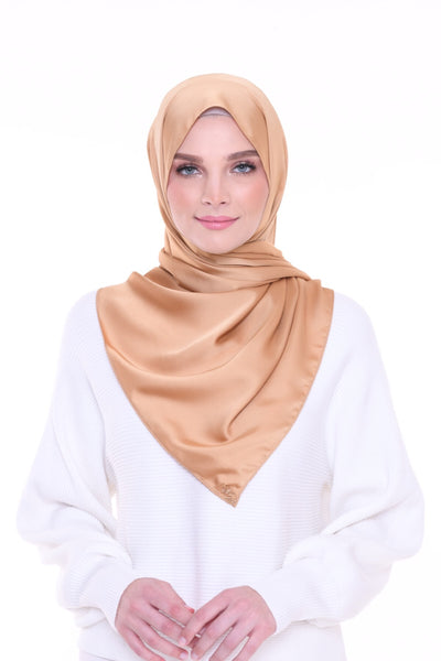 ( Shawl ) Just Matte Satin Basic - Gold Dipped