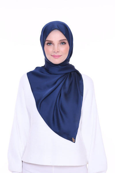 ( Shawl ) Just Matte Satin Basic - Bluemoon