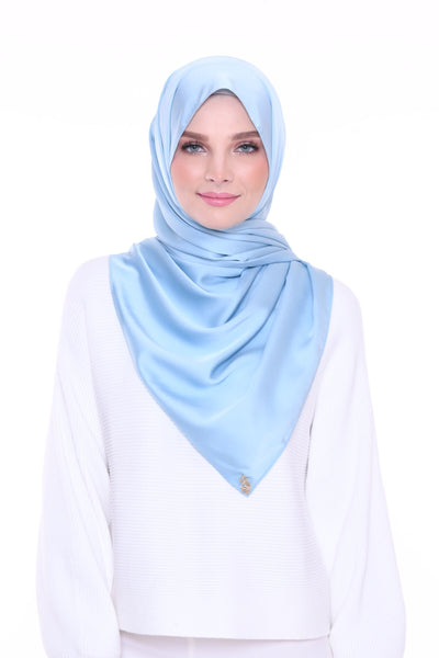 ( Shawl ) Just Matte Satin Basic - IceBlue