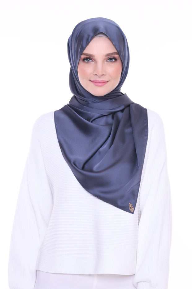 ( Shawl ) JUST MATTE Satin Basic - Rainstorm
