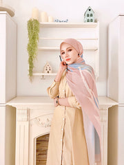 ( Full Pleats ) EUPHORIA Shawls PeachOrange Instabul