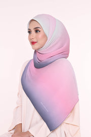 Ombre Small Pleats Shawl - No Regret