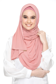 Julia Round Awning Pinless Semi Instant Shawl - PeachTea