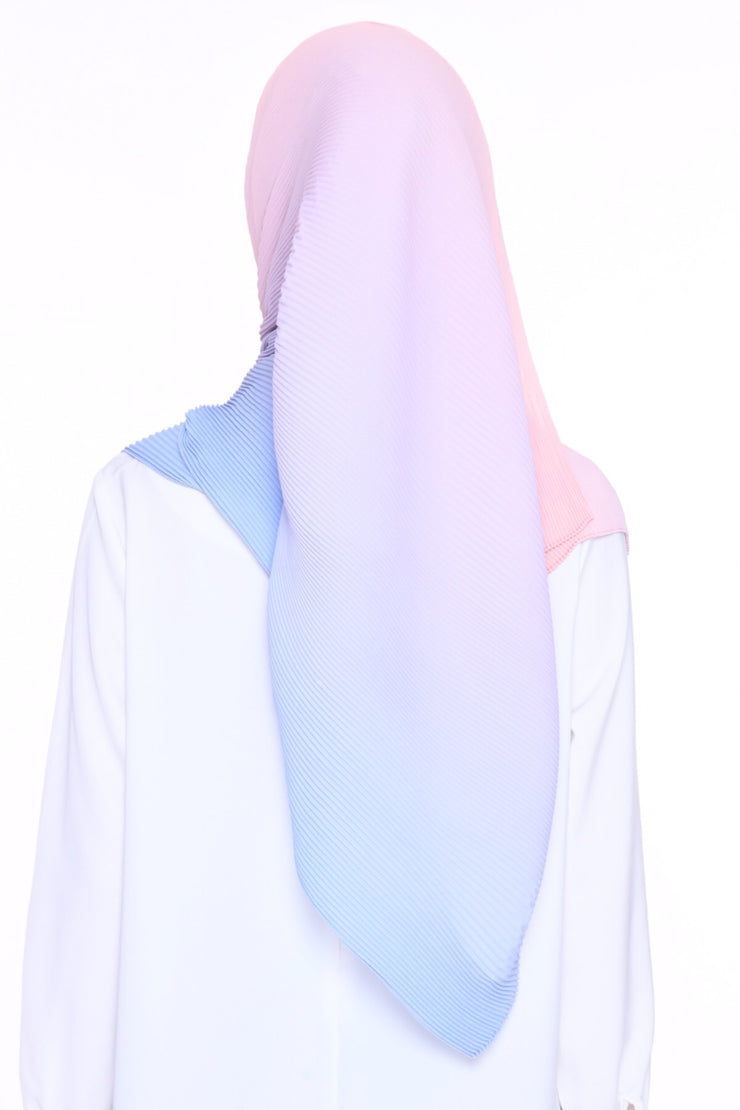 Full Pleats Ombre Lapez ( Rue De Rivoli ) Pink Baby Blue - choose size