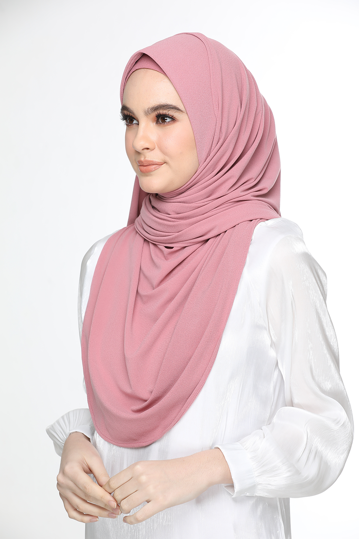 Julia Round Awning Pinless Semi Instant Shawl - Blush Pink
