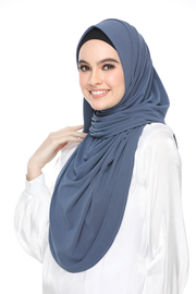 Julia Round Awning Pinless Semi Instant Shawl -  Midnight Gray