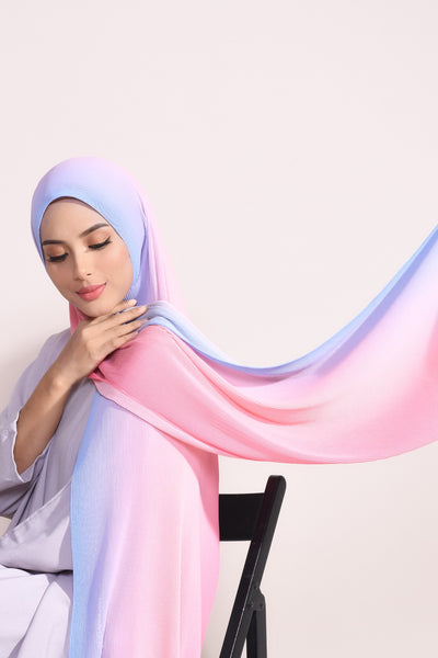 Ombre Small Pleats Shawl - Avalanche
