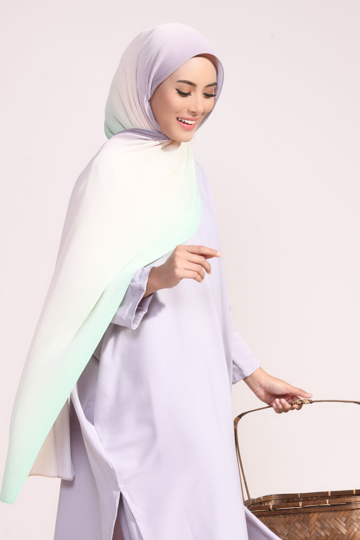 Ombre Small Pleats Shawl - Charisma