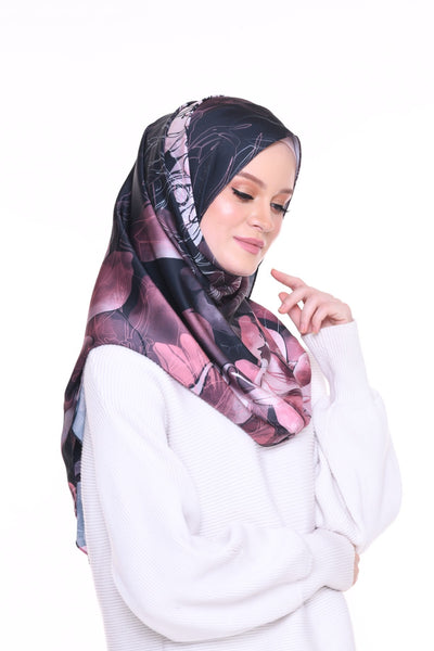 Blooming Mixed Satin Silk ( Shawl ) - Maya
