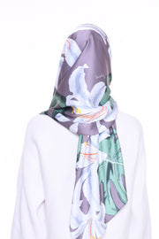 Blooming Mixed Satin Silk ( Shawl ) - Eryana