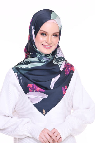 Blooming Mixed Satin Silk ( Shawl ) - Wardah