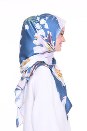 Blooming Mixed Satin Silk ( Shawl ) - Aishah