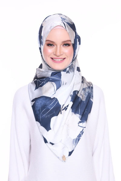 Blooming Mixed Satin Silk ( Shawl ) - Tania