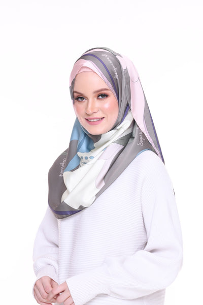 Blooming Mixed Satin Silk ( Shawl ) - Ingrid
