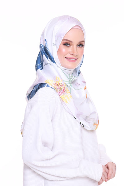 Blooming Mixed Satin Silk ( Shawl ) - Aika