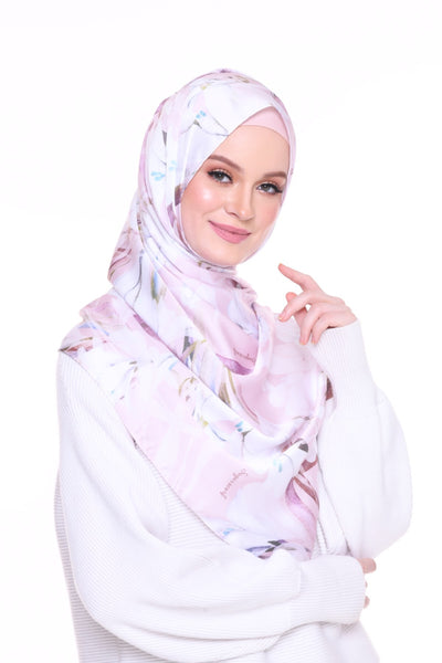 For the love of Prints Mixed Satin Silk ( Shawl ) - Serinity