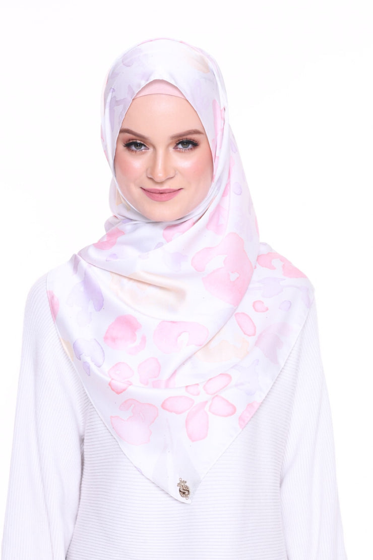 For the love of Prints Mixed Satin Silk ( Shawl ) - SplashFlower