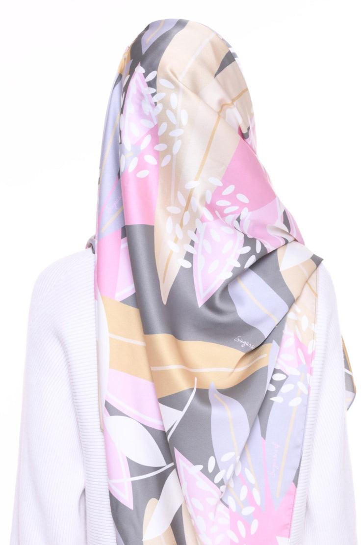 For the love of Prints Mixed Satin Silk ( Shawl ) - QuirkyLeaves