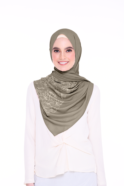 Long Shawl Flowy Chiffon PURE ( Sage )