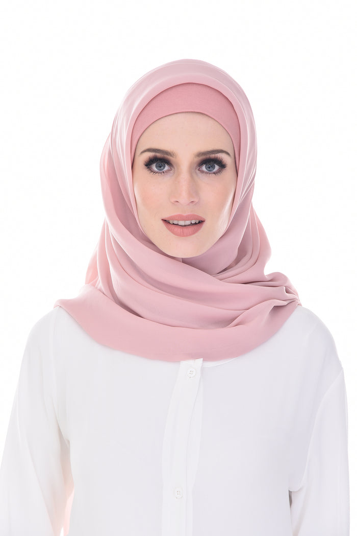Claudia Square Instant  Chiffon (Audrey Pink )