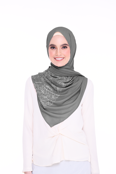 Long Shawl Flowy Chiffon PURE ( NightGray )