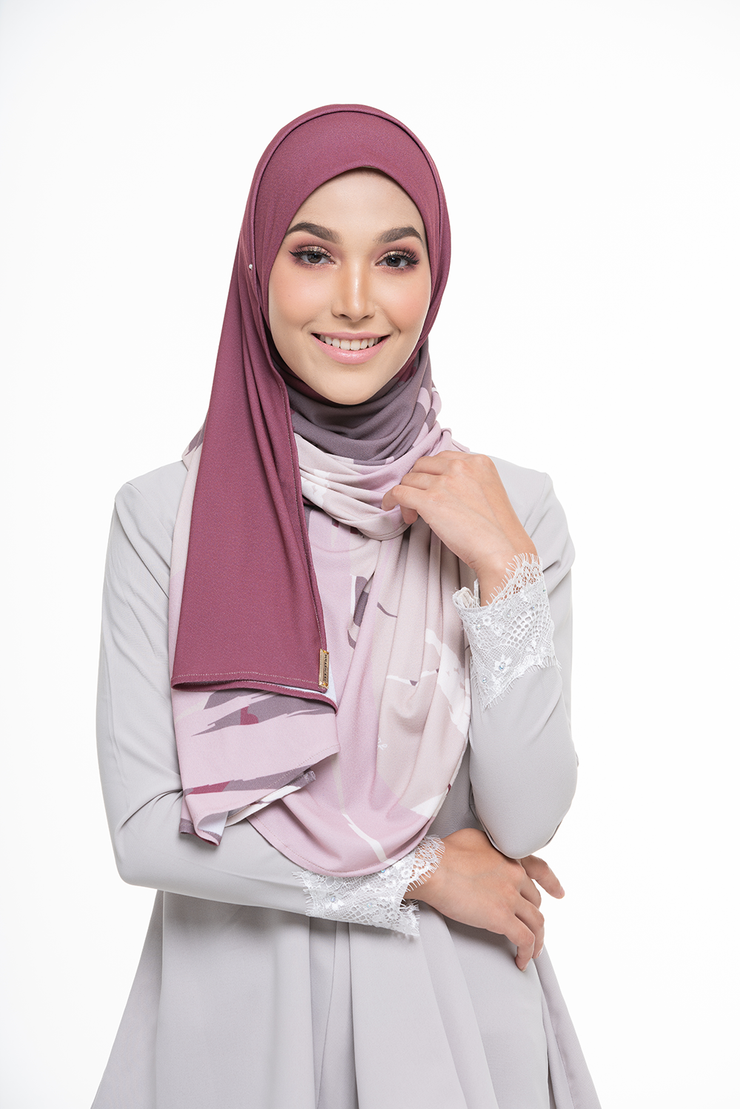 Julia Round Pinless Semi Instant Shawl EUPHORIA Determinded