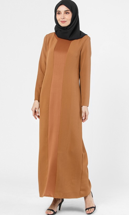 BROWN KENDRA DRESS - Sugarscarf