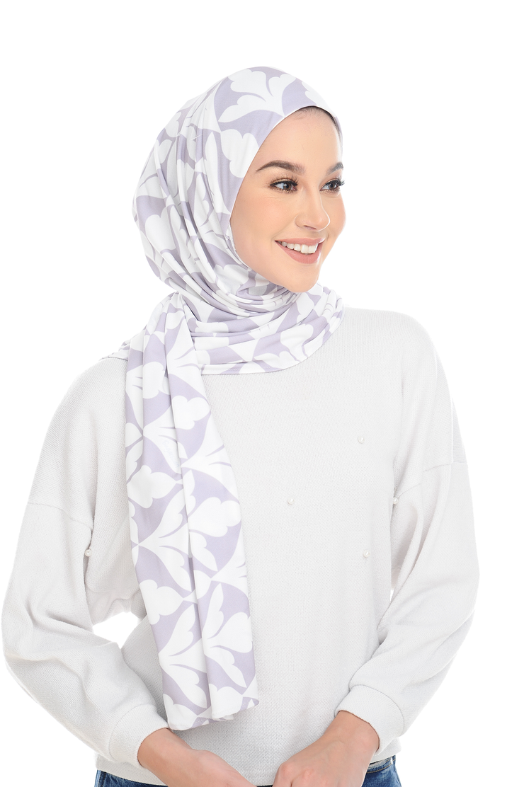 (Spain Purple) Pinless Semi Instant Shawl ( Choose awning ) -