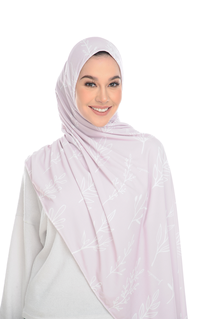 (Pink Herbs) Pinless Semi Instant Shawl ( Choose awning ) -