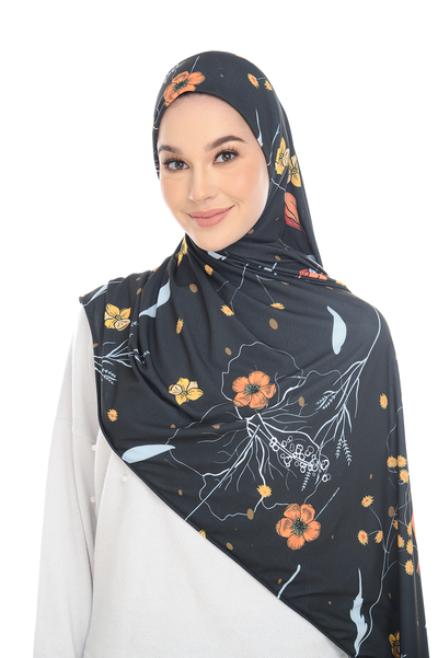 (18K Forest ) Pinless Semi Instant Shawl ( Choose awning ) -