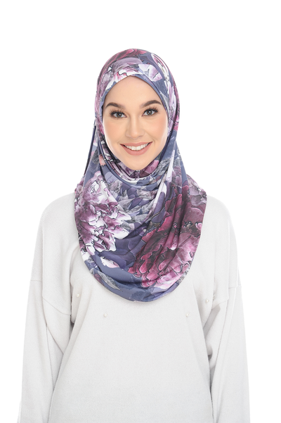 (Romantic Bloom) Pinless Semi Instant Shawl ( Choose awning ) -