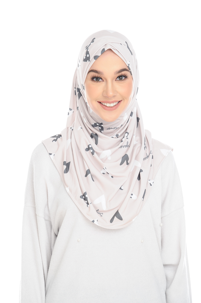 (Myheart) Pinless Semi Instant Shawl - Criss Cross