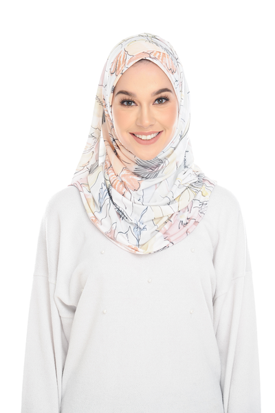 (1985 Flower) Pinless Semi Instant Shawl ( Choose awning ) -