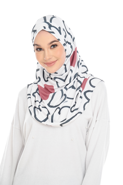 (Love Artsy) Pinless Semi Instant Shawl - Criss Cross