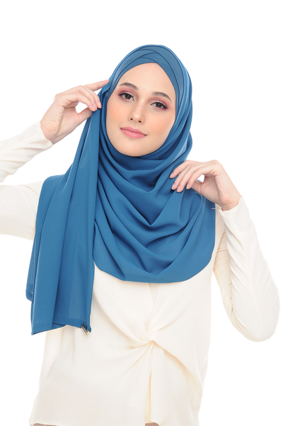 CS Instant Shawl MADISON COMEBACK DEEP SEA - Sugarscarf