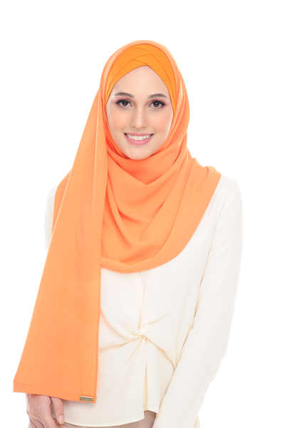 CS Instant Shawl Madison Classic Happy Orange - Sugarscarf