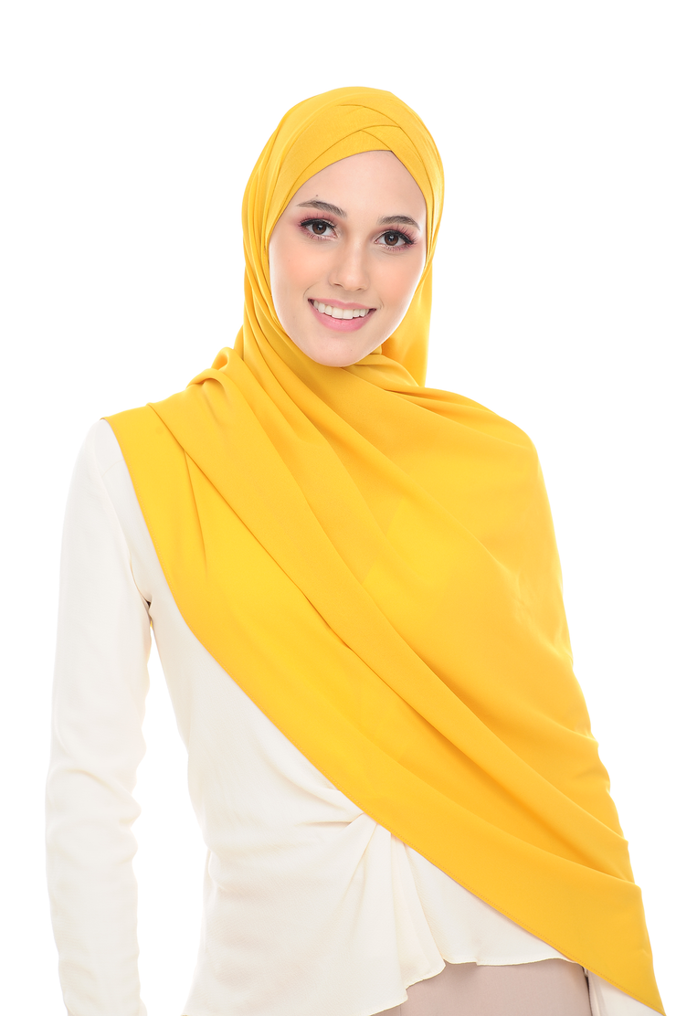 CS Instant Shawl MADISON CLASSIC LEMON DROP YELLOW