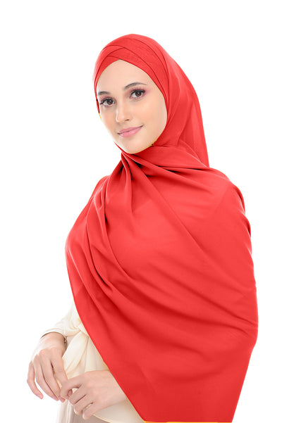 CS Instant Shawl MADISON COMEBACK RED VELVET - Sugarscarf