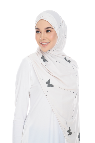 (Butterfly Trails ) Pinless Semi Instant Shawl ( Choose awning ) -