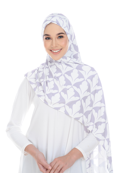(Spain Purple) Pinless Semi Instant Shawl - Criss Cross