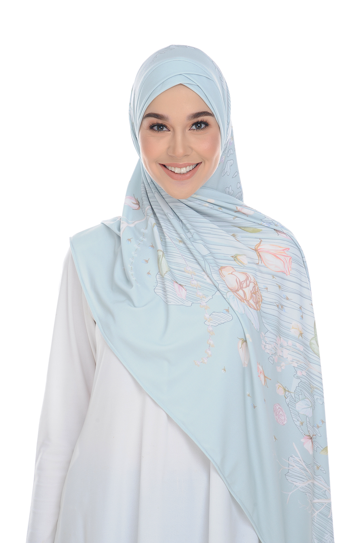 ( Mint Chictraveller ) Pinless Semi Instant Shawl ( Choose awning )