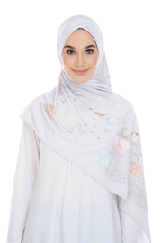 ( Snow ChicTraveller ) Pinless Semi Instant Shawl ( Choose awning )